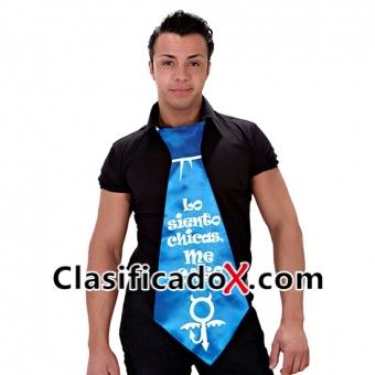 Corbata Gigante Azul Lo Siento Chicas