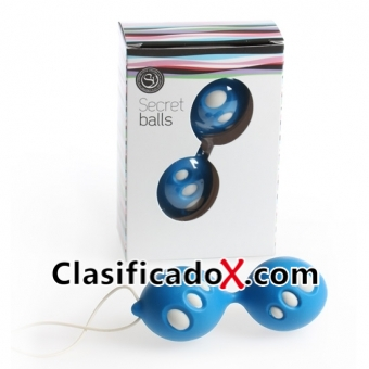 Secret Balls Bolas Chinas Ovalos Azul