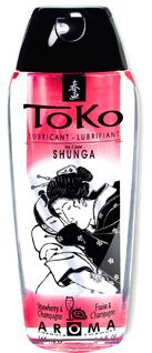 Shunga Lubricante Toko Fresa y Champagne