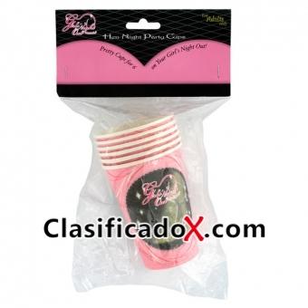 Pack 6 Vasos De Papel Despedida De Soltera
