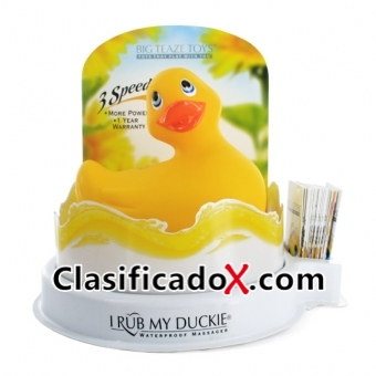 Pato Vibrador Amarillo Con Display