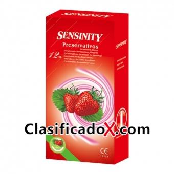 Sensinity Preservativos Fresa 12 Uds