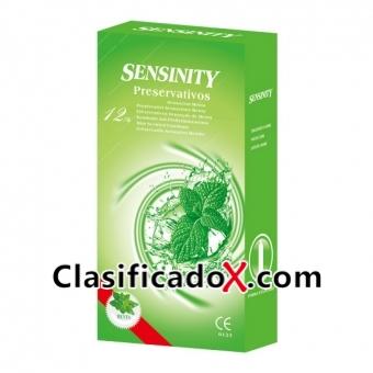 Sensinity Preservativos Menta 12 Uds
