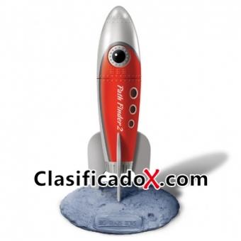 Retro Pocket Rockets Vibrador Rojo