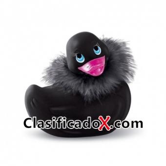 Pato Vibrador Paris Negro De Viaje