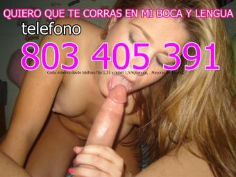 telefono 80 34 05 391 ADICTA AL SEXO
