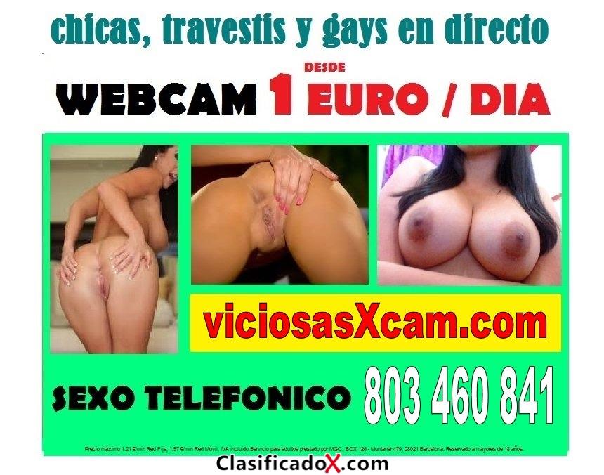 Linea erotica barata 803 460 841 webcam porno 1 euro / dia, videollamada 1 sms, videos porno,