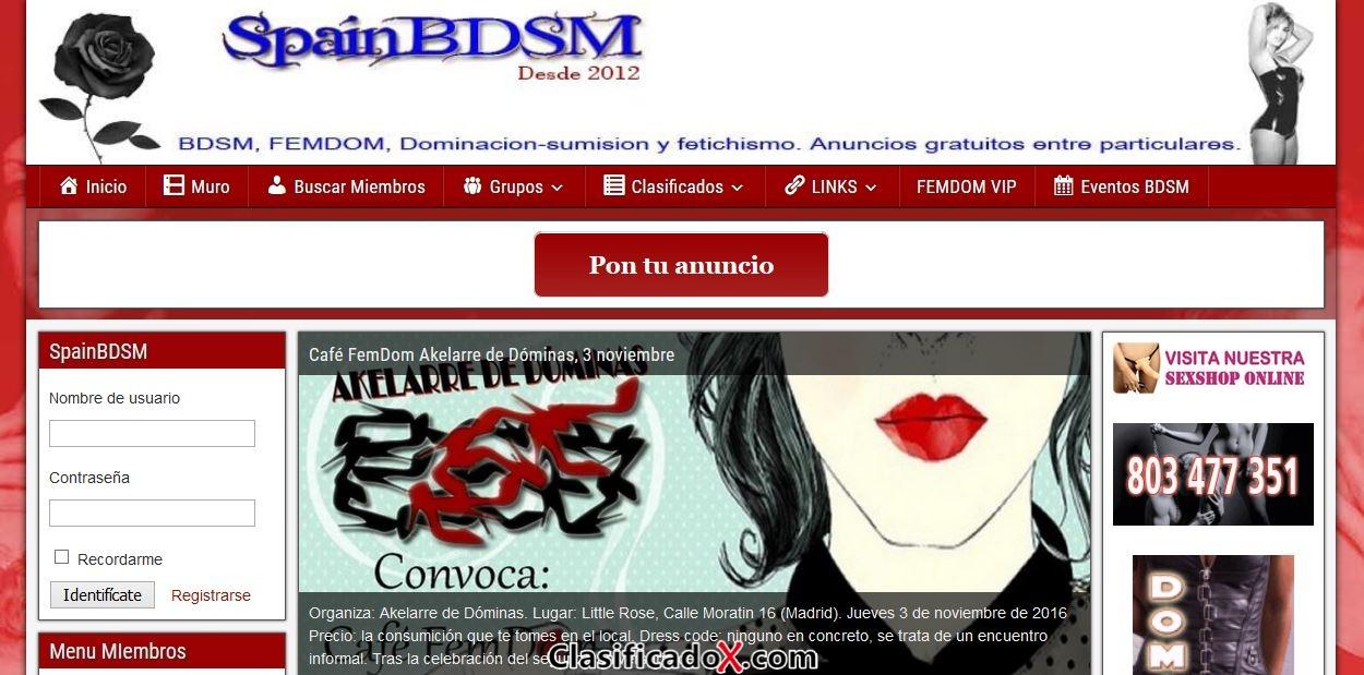 Publica tu anuncios en SpainBDSM