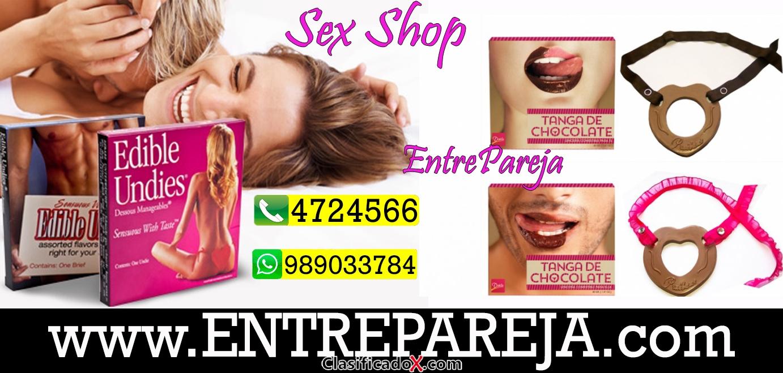Tangas de chocolate en lince sexshop lenceria comestible Tlf: 4724566  - 994570256
