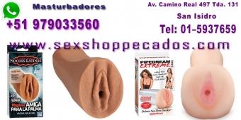 masturbadores full silicona con vibracon - sexshop san isidro pecados teinda erotica cel:979033560