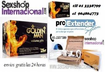 GOLDEN MAN producto original sexshop pedidos al  cl 964864773 tlf 01 3338799