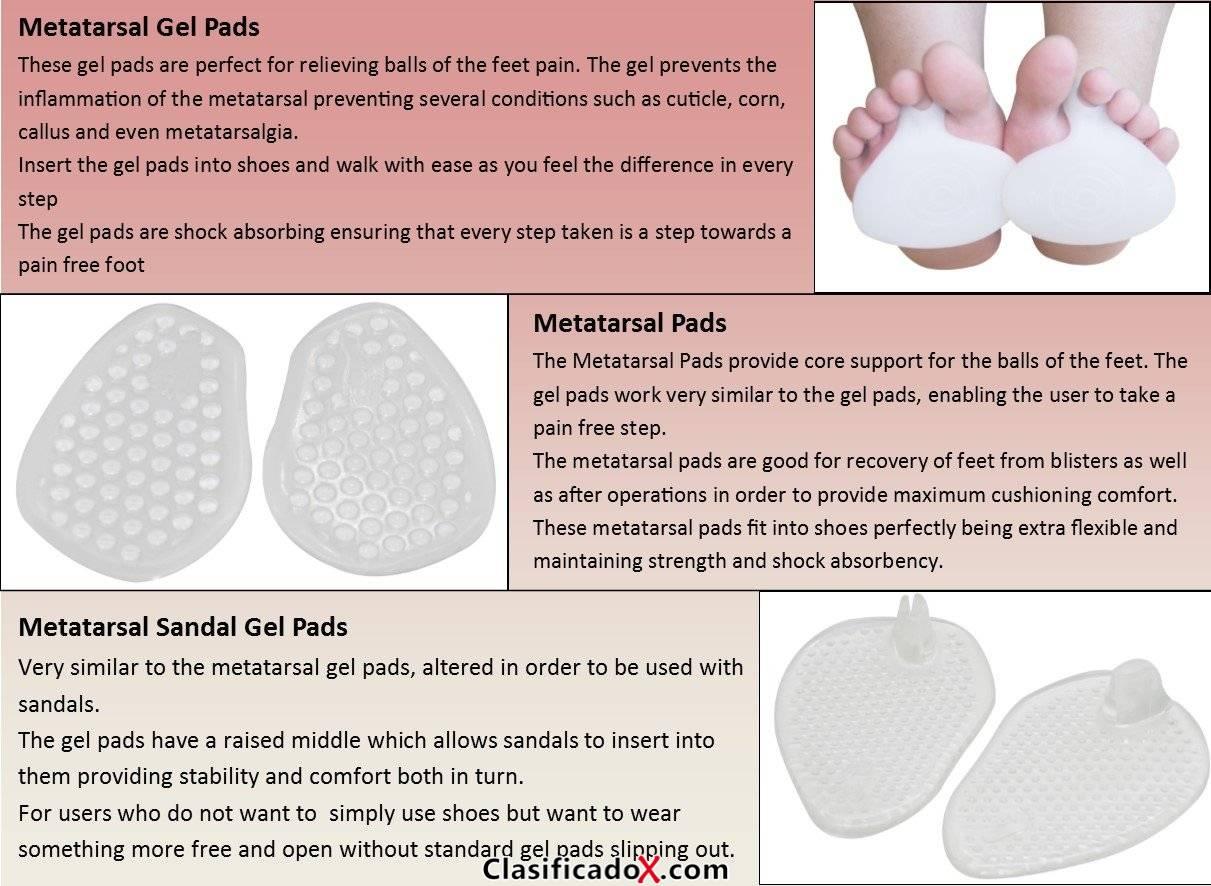 pedimend Medicated almohadilla de silicona bola de metatarso alivio Pack–Pie–almohadillas para callos, callos, alivio de dolores, metatarso almohadillas de Gel, 1par), metatarso Sandal–Almohadi