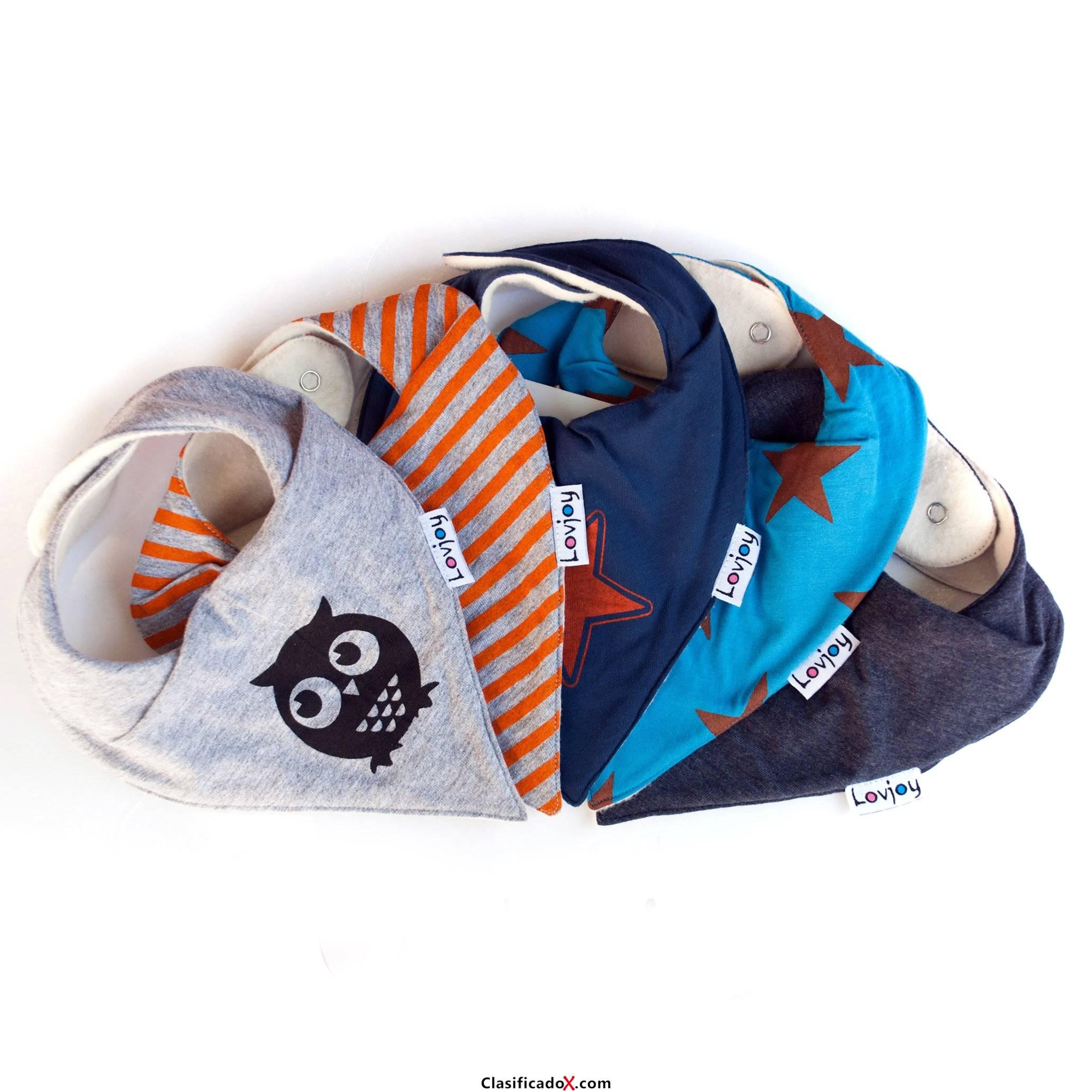 Lovjoy Baberos del bebé - Paquete de 5 Diseños para niño (estrella urbana). Envíos a Cádiz
