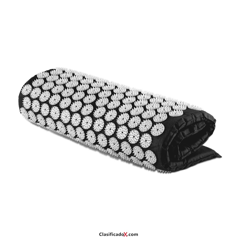 Capital Sports Repose Esterilla yantra para masaje y acupresión (Colchón 80x50cm, 275 círculos de 33 púas ABS, 9075 puntos de acu presión para estimular y mejorar circulación, relleno de espuma, alfom