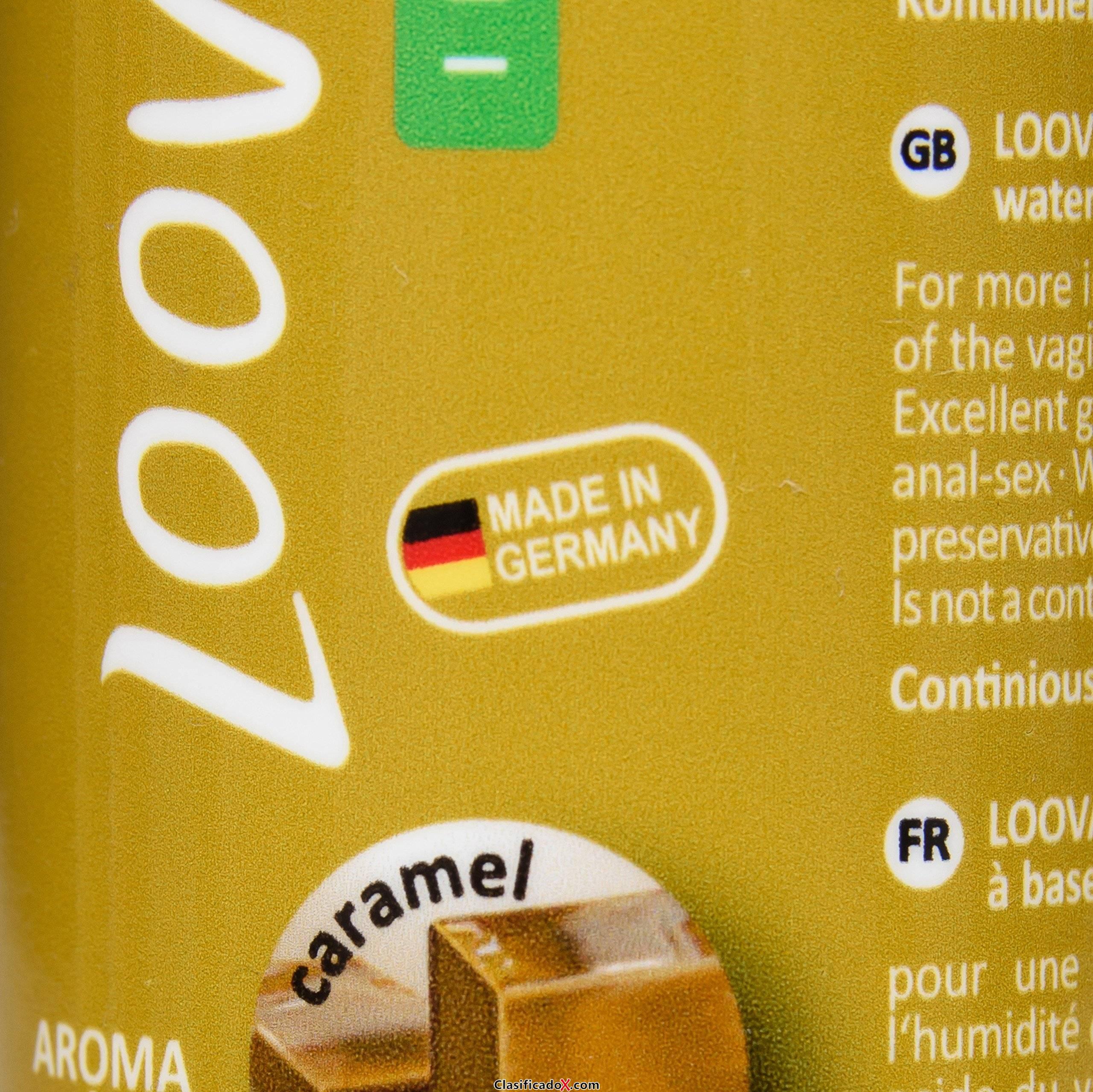 Loovara gel lubricante 100ml en base agua de aloe vera con aroma natural de caramelo. Envíos a Cádiz