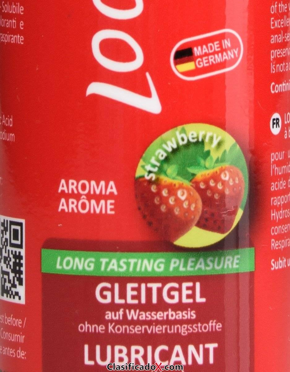 Loovara gel lubricante 100ml en base agua de aloe vera con aroma natural de fresa. Envíos a Cádiz