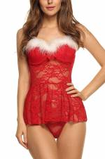 Avidlove Babydoll picardías lencería estilo navidad para mujer. Envíos a Albacete