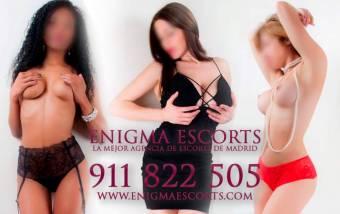 Enigma escorts, la mejor agencia de escorts de Madrid +34 911822505