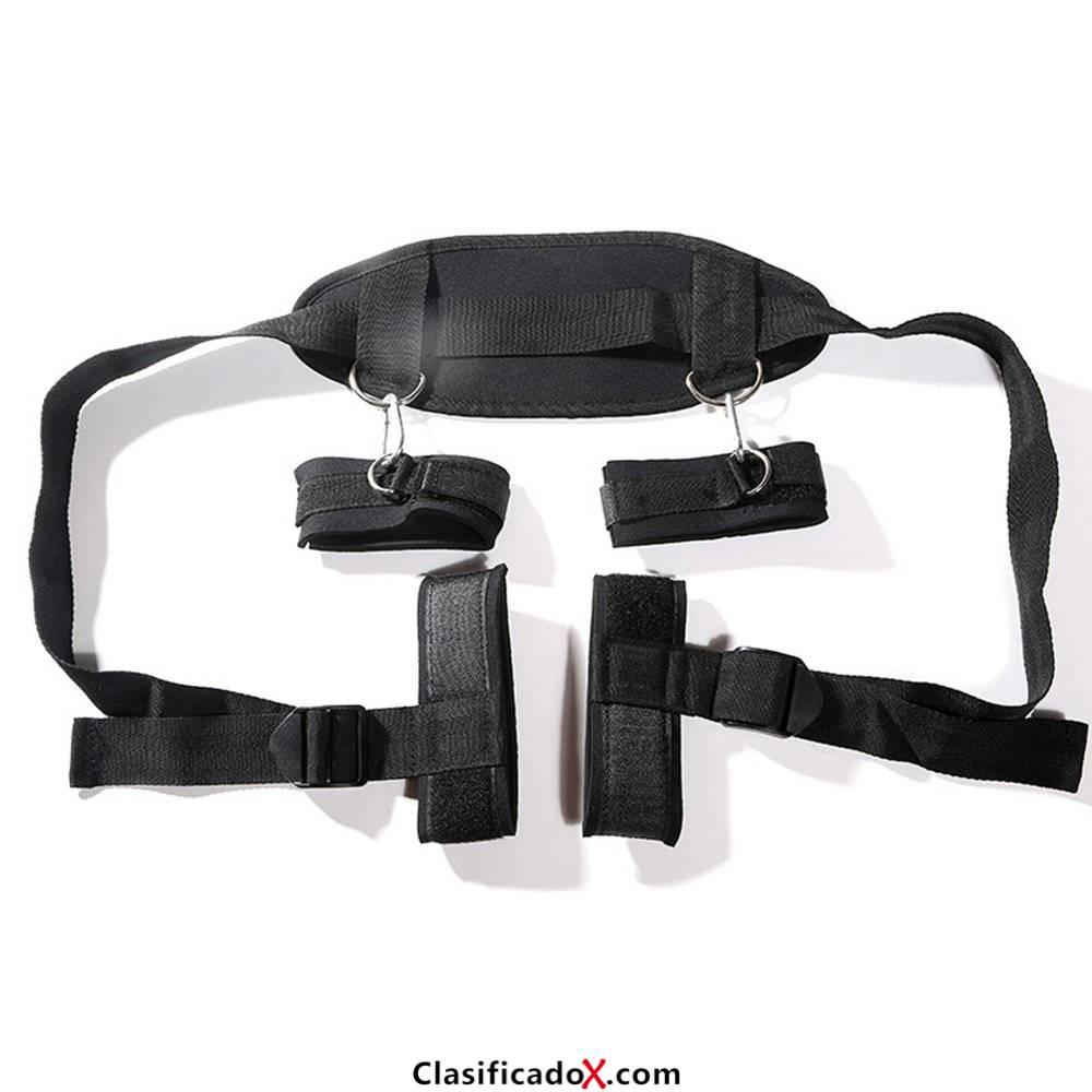 Cosplay adultos Hand & Tobillo Cuffs Strap Kit Restricciones de cama Pareja Flirt Toy para juego de fiesta. Envíos a Jaén