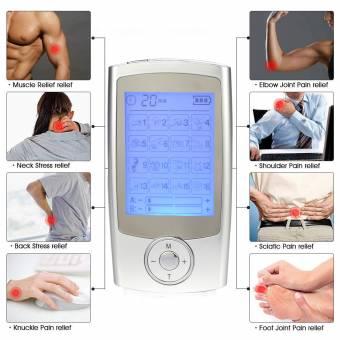 Electroestimulador Muscular, Masajeador Electrico Tens Ems Electrodos Estimulador de Acupuntura Para la Terapia Física Masajeador para Tratar Espalda/cuello/hombros/estrés en Piernas y Dolor Ciáti
