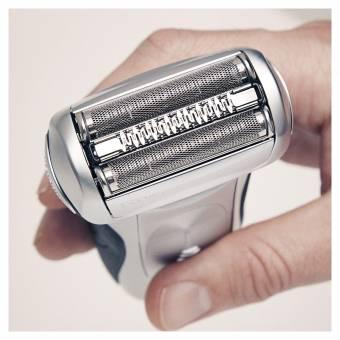 Braun Series 7 7898 cc - Afeitadora eléctrica para hombre de lámina, en húmedo y seco, máquina de afeitar barba con estación de limpieza Clean&Charge, plata. Envíos a Alacant