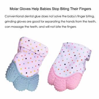 Manopla de dentición de silicona para bebé, Guante de alivio de dolor y alivio del dolor Guante de dentición de seguridad alimentaria BPA GRATIS para bebé y niña de 3 a 12 meses. Envíos a Le&oa
