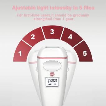 Depiladora Laser Electrica para Mujer, Sistema IPL por luz pulsada, 5 Tensidad, 350000 Flashes, con Sensor Inteligentede piel,para el Cuerpo y Zona Bikini. Envíos a Cádiz