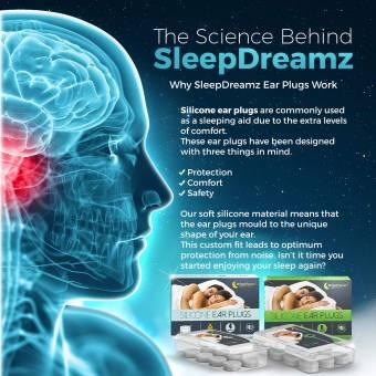 Tapones para los oídos SleepDreamz® (6 pares) - Tapones para los oídos para dormir diseñados para proteger contra de los ronquidos y otros sonidos fuertes, para que pueda dormir mejor!. Envíos a