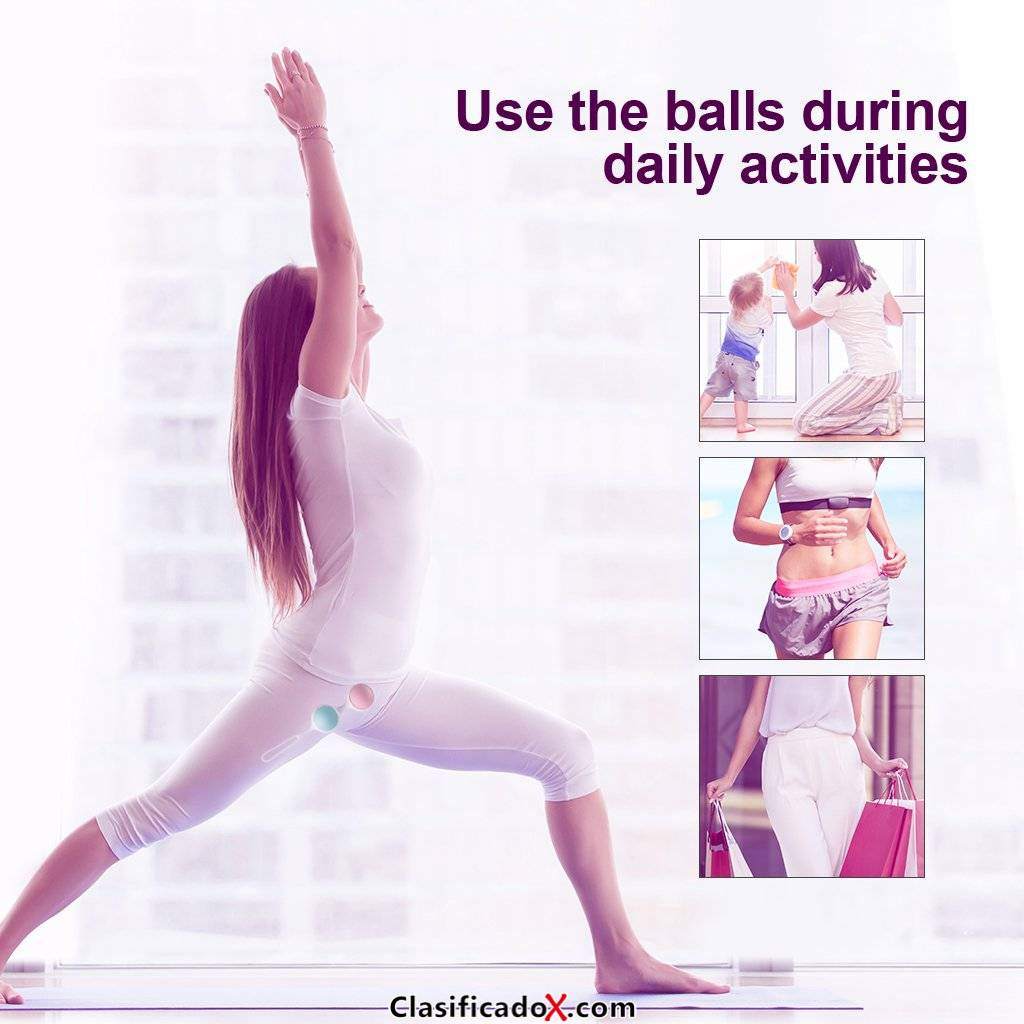 Luvkis Kegel Bolas Chinas para mujer Juego de bolas Ben Wa premium con 4 ejercicios de Kegel de alta calidad para principiante y avanzado Ejercicio Kegel Control de la vejiga Músculo pélvico Fortal