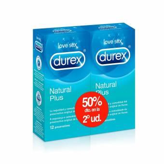Durex Preservativos Natural Plus Pack Ahorro 2 x 12 Condones. Envíos a Huesca