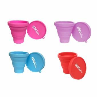 Pack Copa Menstrual Tulip S + Copa Menstrual Tulip L + Esterilizador Plegable Color Rosa, Azul, Morado o Rojo al azar. Envíos a Palencia