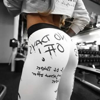 ❤️ Pantalones de Yoga Mujer Impresión de Letras, Moda Femenina Entrenamiento Leggings Fitness Deportes Gimnasio Running Yoga Athletic Pants Absolute. Envíos a Granada