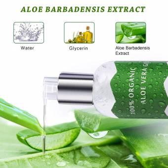 Vsadey Aloe Vera Gel Puro 100% Natural Orgánico - Facial y Corporal Hidratante para la Piel Crema de Aloe Vera 100% Orgánica Exfoliación Facial Sun Peel Off Máscara 250ml. Envíos a Cácere