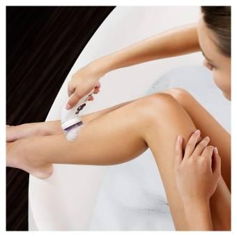 Braun Silk-épil 9 SkinSpa 9-961V - Depiladora para mujer eléctrica, sistema de exfoliación y cuidado de la piel 4 en 1 + 12 accesorios, oro rosa/blanco. Envíos a Illes Balears