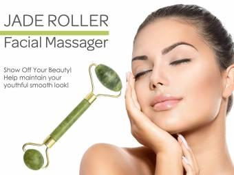 Uteruik Rodillo de Jade antienvejecimiento 100% Natural Jade Facial Rodillo curación Adelgazamiento masajeador (Rodillo de Jada). Envíos a Albacete