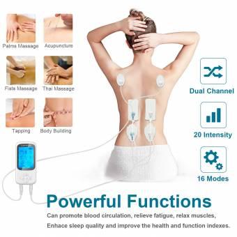Electroestimulador Muscular,Eléctrica TENS Masajeador Electroestimulación con 16 Modos, 6 electrodos, para Alivio del Dolor y Relajación (Espalda, Cuello, Hombros, Pierna) Carttiya 2018 Versión.
