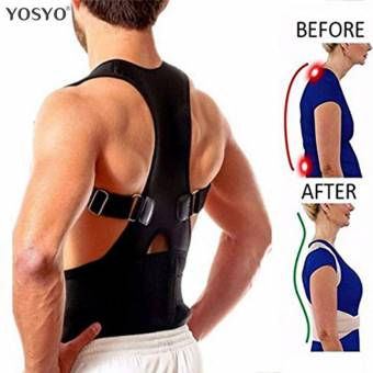 GAOWORD Regulable Postura de la Espalda Corrector Terapia magnética Corrección de la Postura Brace Hombro Back Brace Cinturón de Soporte NO Slouching,L. Envíos a Almería