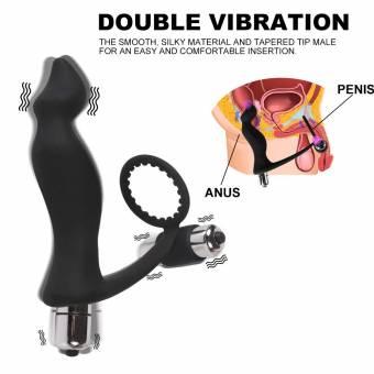 Masajeador de Próstata, Vibrador con Anillo de Pene y Bucle de Bola Para Triple Estimulación, Estimulación del Anillo de Pene Orgásmico de Punto Anal Para Hombres, Mujeres y Parejas. Envíos a Mu
