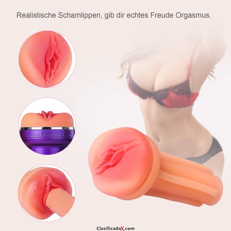 Masturbador Realista Vagina para Hombre, 3D Masturbación Masculina Juguete Erótico Masturbadores Masculino - purpúreo. Envíos a Alacant
