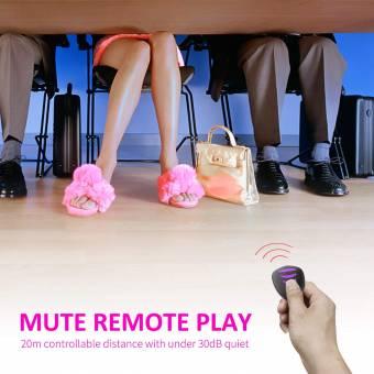 Masajeador remoto,Vibrador de control remoto,con ropa interior sexy,estimular el vibrador del clítoris,IPX7 impermeable,empapable,Ligero y confortable sin carga de 10 Modos (Rosa morado). Envíos
