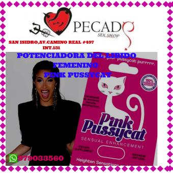 Pink Pussycat Fémale aumenta el libido, el deseo sexual y la lubricación en sexshop pecados cel:979033560