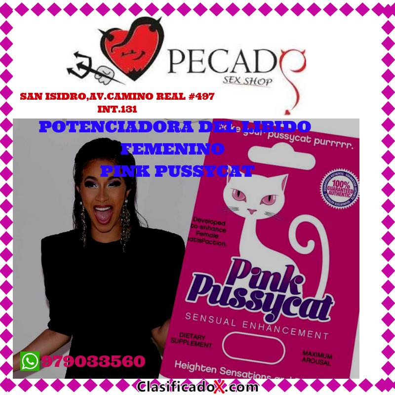 Pink Pussycat Aumenta las sensaciones sexuales. un orgasmo más, sexshop pecados cel:979033560