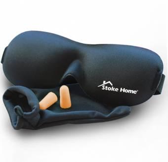 Antifaz para Dormir Negro Anti-Luz, Máscara de Ojos 3D Fabricado con Espuma de Memoria para Hombre / Mujer / Niño, Suave y Compacta Para Dormir en el Avión, Coche y Tren - Stoke Home. Envíos a Pa