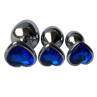Rawdah Berg Crystal color plata acero inoxidable plug anal metal patio trasero enganche (S, Azul). Envíos a Córdoba