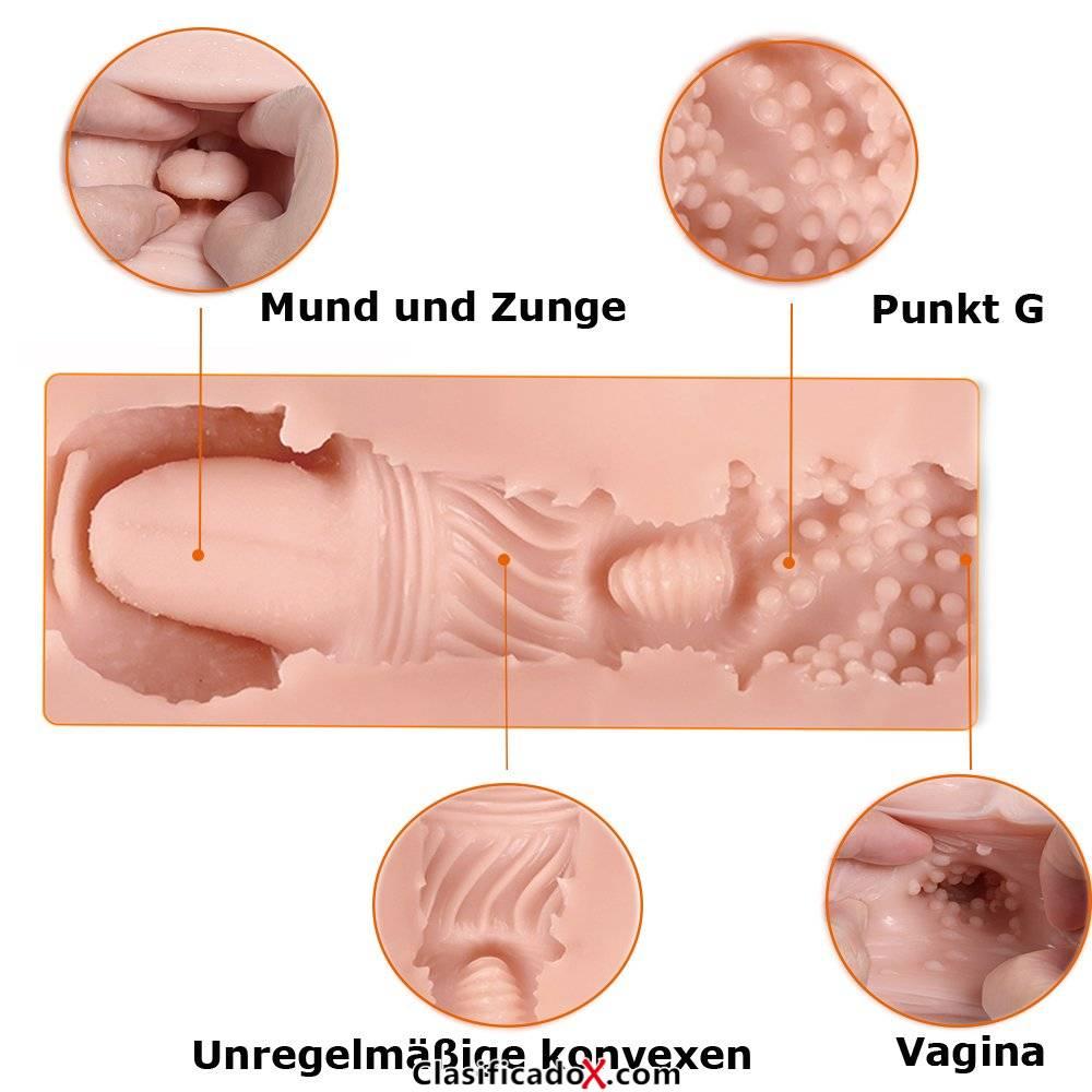 3d REALiS mesa Oral Sex Blow Job deepthroat dientes y lengua männlicher Masturbator Vagina Pocket Pussy Stroker masturbación Sex de juguete para hombres. Envíos a Las Palmas