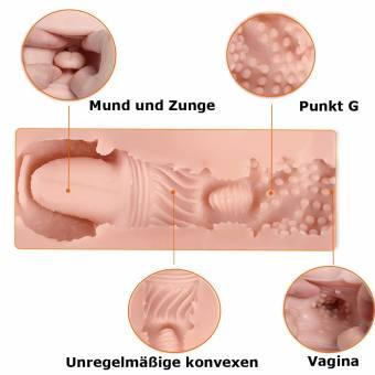 3d REALiS mesa Oral Sex Blow Job deepthroat dientes y lengua männlicher Masturbator Vagina Pocket Pussy Stroker masturbación Sex de juguete para hombres. Envíos a Cádiz