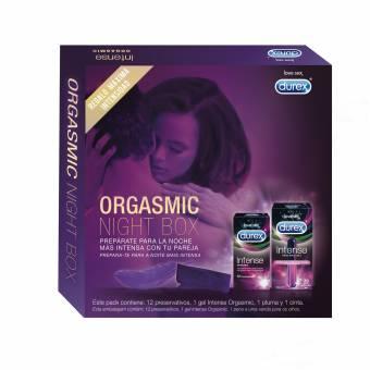 Durex Intense Orgasmic Night Box, Gel Estimulante y 12 preservativos. Envíos a Huesca