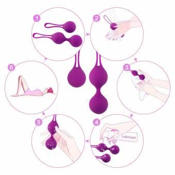 Cksohot Bolas Chinas de Silicona Médica Kit de Pesas de Ejercicio Kegel para Mujeres Kegel Balls para Suelo Pelvico Masajeador de la Salud Kegel Ejercitado. Envíos a Jaén