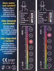 My.Size - Set de preservativos (3 unidades, tallas disponibles: 60, 64 y 69 mm). Envíos a Murcia