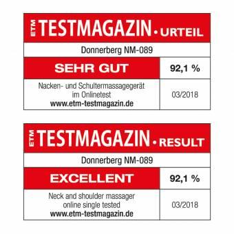 Masajeador de cuello hombros espalda- Masajeador cervicales shiatsu Donnerberg - Marca alemana – alivia las contracturas - calor para relajar los músculos, el estrés y la fatiga - 7 años de gara